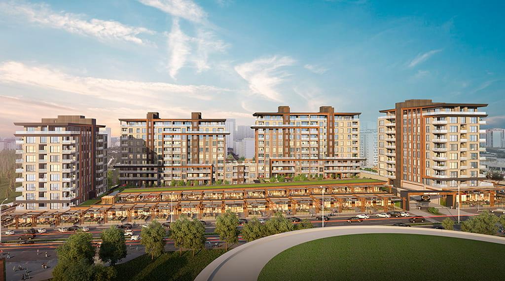 مشروع استثماري مميز مطل على أكبر حديقة نباتية في باشاك شاهير…..اسطنبول    (  كود المشروع    IC 36   )