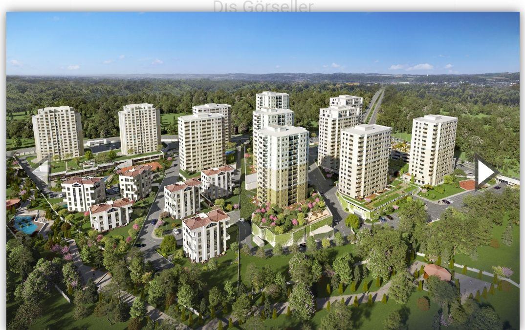 شقة 3+1 للبيع في بهشا شهير قرب القناه المائية الجديدة قيد الانشاء