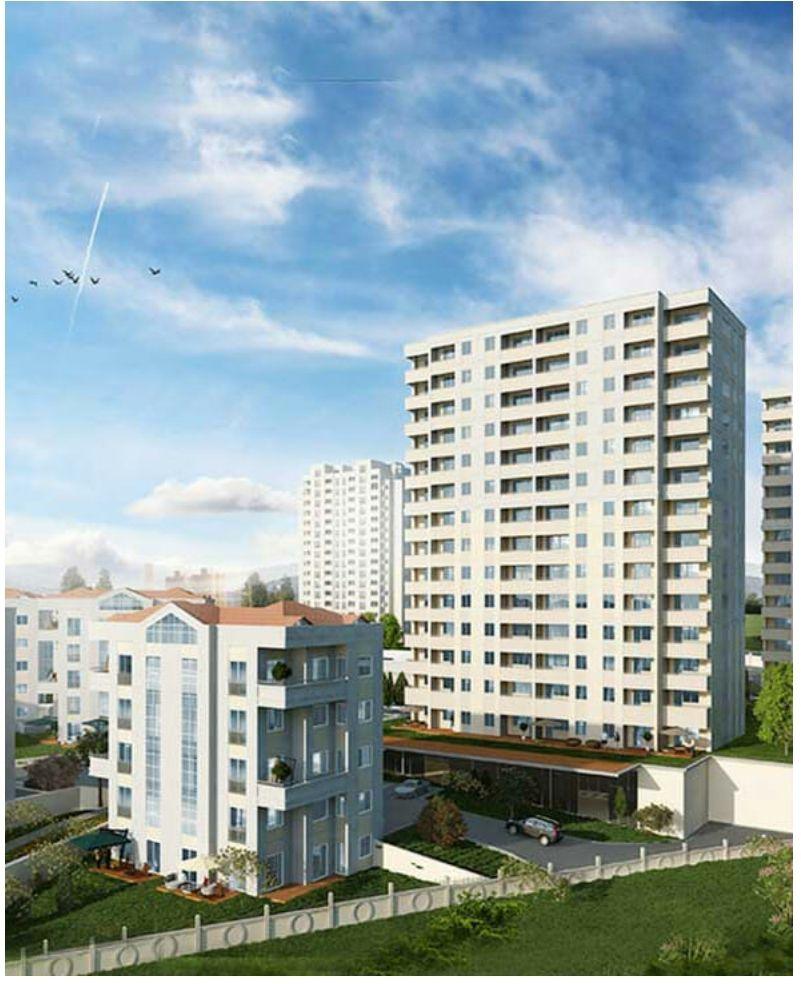 شقة 4+1 للبيع في اسطنبول بهشا شهير قرب القناة المائية الجديدة