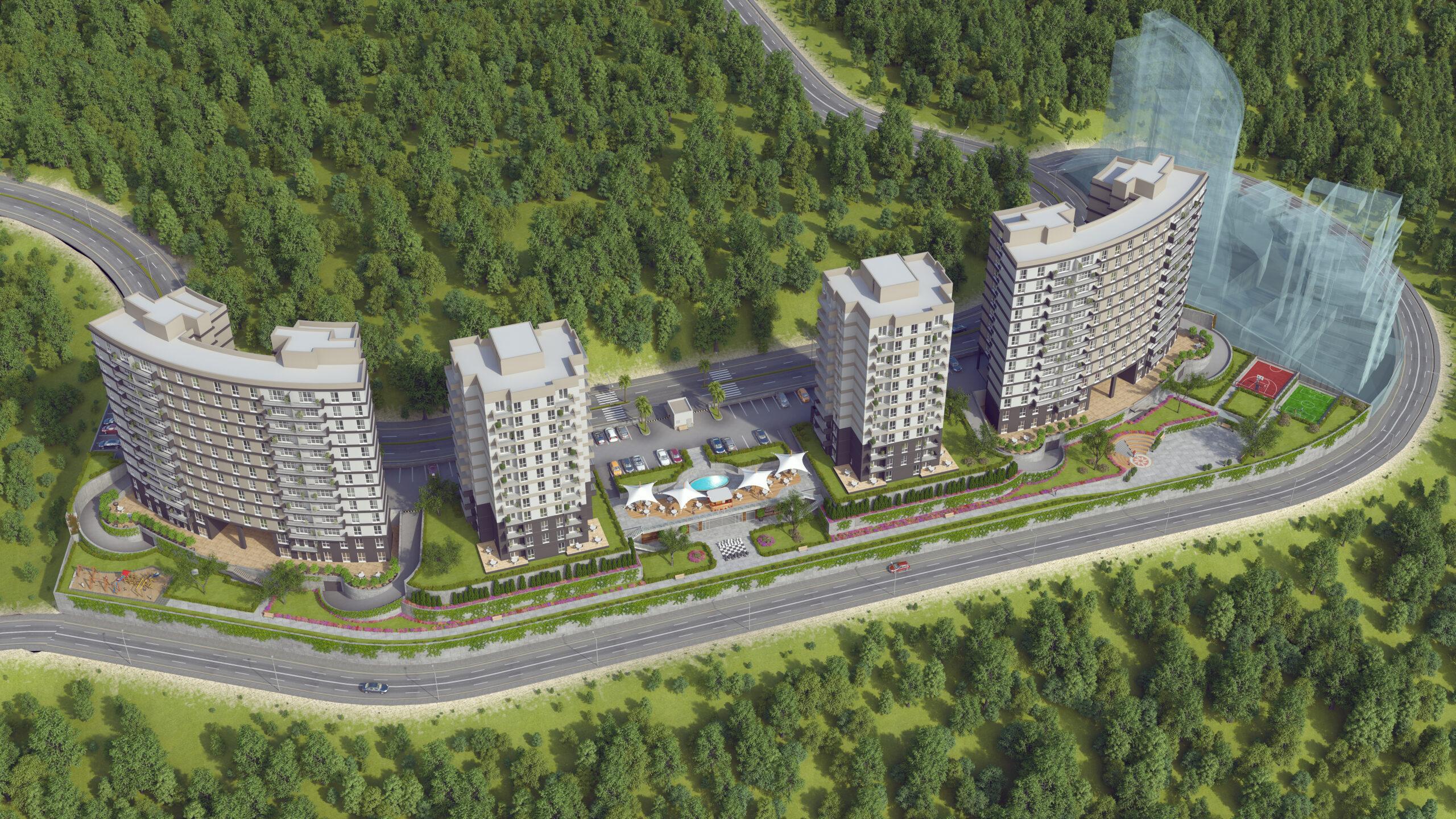 مشروع استثماري سكني في اسطنبول بهشا شهير كود المشروع (IC 62)