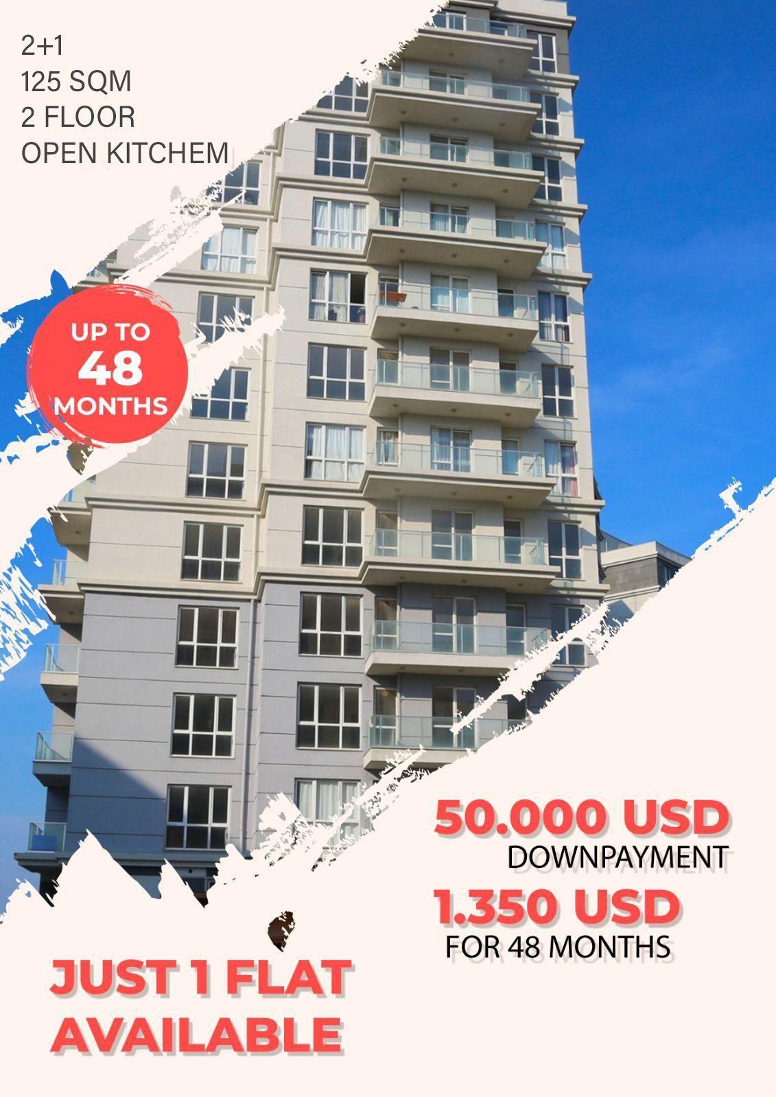 شقة للبيع في اسطنبول بهشا شهير 2+1 قرب القناة المائية
